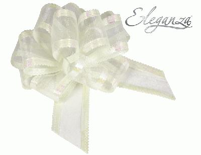 Organza Pull Bows 50mm x10pcs Ivory No.61 - Pullbows
