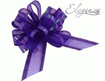 Organza Pull Bows 50mm x10pcs Purple No.36 - Pullbows