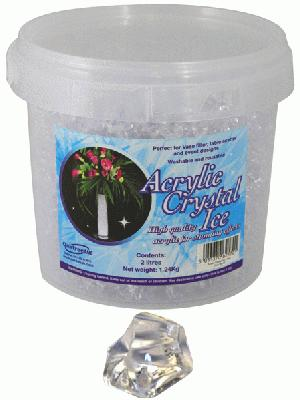 Acrylic Crystal Ice 1.4cm 2ltr 1.24kg Clear - Accessories