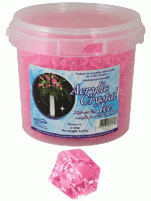 Acrylic Crystal Ice 1.4cm 2ltr 1.24kg Pearl Pink - Accessories