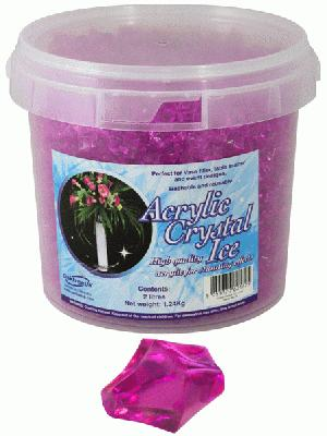 Acrylic Crystal Ice 1.4cm 2ltr 1.24kg Cerise - Accessories