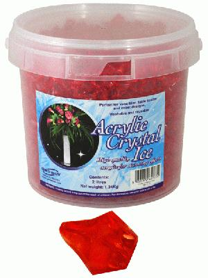 Acrylic Crystal Ice 1.4cm 2ltr 1.24kg Red - Accessories