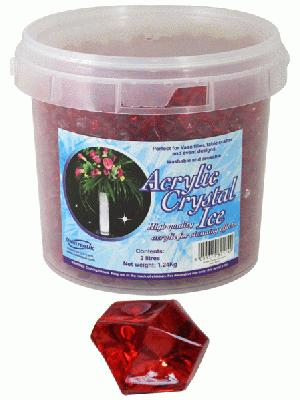 Acrylic Crystal Ice 1.4cm 2ltr 1.24kg Ruby - Accessories