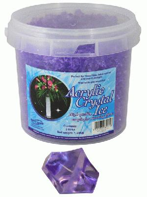 Acrylic Crystal Ice 1.4cm 2ltr 1.24kg Purple - Accessories