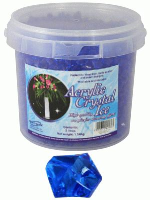 Acrylic Crystal Ice 1.4cm 2ltr 1.24kg Sapphire Blue - Accessories