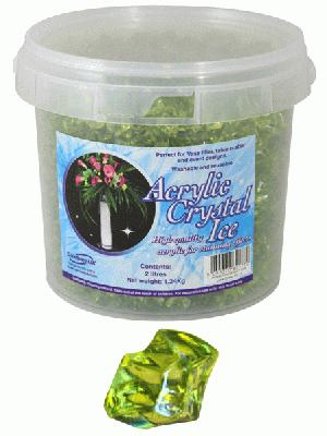Acrylic Crystal Ice 1.4cm 2ltr 1.24kg Lime Green - Accessories