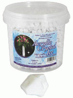 Acrylic Crystal Ice 1.4cm 2ltr 1.24kg White - Accessories