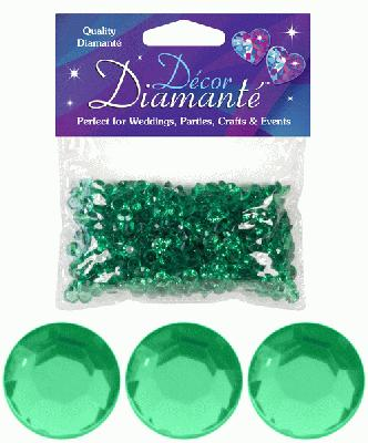 Décor Diamanté™ 6mm 28g bag, Emerald - Accessories