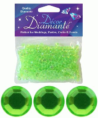 Décor Diamanté™ 6mm 28g bag, Lime Green - Accessories
