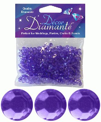 Décor Diamanté™ 6mm 28g bag, Lavender - Accessories