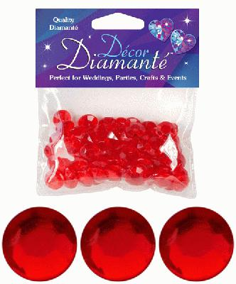 Décor Diamanté™ 12mm 28g bag, Red - Accessories