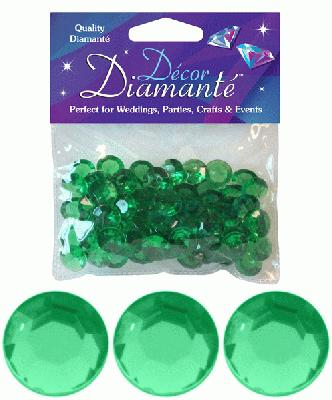 Décor Diamanté™ 12mm 28g bag, Emerald - Accessories