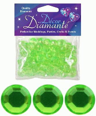 Décor Diamanté™ 12mm 28g bag, Lime - Accessories