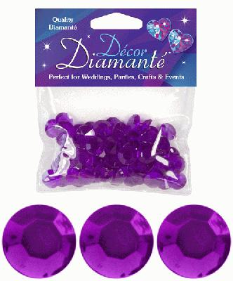 Décor Diamanté™ 12mm 28g bag, Amethyst - Accessories