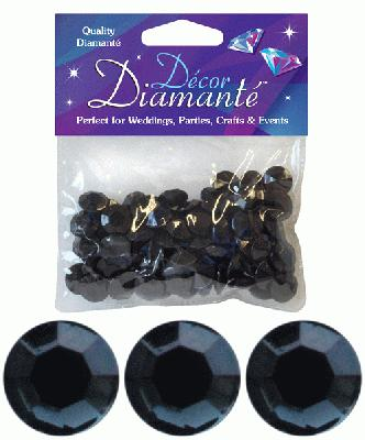 Décor Diamanté™ 12mm 28g bag, Black - Accessories
