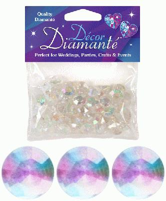 Décor Diamanté™ 12mm 28g bag, Iridescent - Accessories