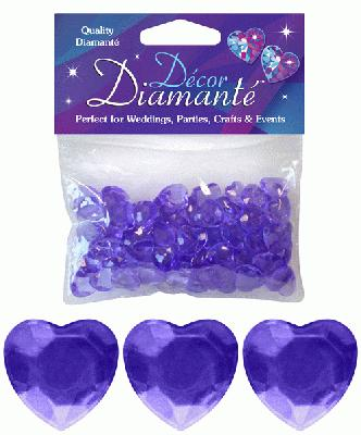 Décor Diamanté™ 12mm Hearts 28g bag, Lavender - Accessories