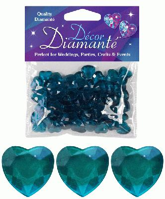 Décor Diamanté™ 12mm Hearts 28g bag Jade - Accessories