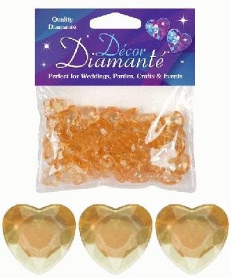 Décor Diamanté™ 12mm Hearts 28g bag Gold - Accessories