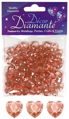 12mm Décor Diamante Double Faced Heart 28g No.87 Rose Gold - Accessories