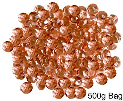 6mm Décor Diamante Diamonds 500g Bulk Bag No.87 Rose Gold - Accessories