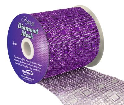 Eleganza Diamond Mesh 11cm x 4.5m Pattern No.351 Purple No.36 - Accessories