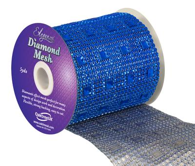 Eleganza Diamond Mesh 11cm x 4.5m Pattern No.351 Sapphire Blue No.72 - Accessories