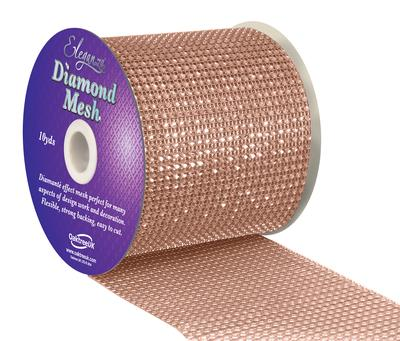 Eleganza Diamond Mesh 12cm x 9m Rose Gold No.87 - Accessories