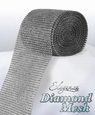 Eleganza Diamond Mesh 12cm x 9m Silver No.24 - Accessories