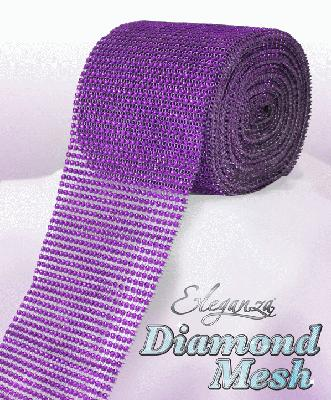 Eleganza Diamond Mesh 12cm x 9m Purple No.36 - Accessories