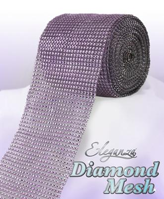 Eleganza Diamond Mesh 12cm x 9m Lavender No.45 - Accessories