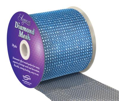Eleganza Diamond Mesh 12cm x 9.1m Lt. Blue No.25 - Accessories