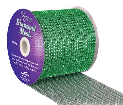 Eleganza Diamond Mesh 12cm x 9.1m Green No.50 - Accessories