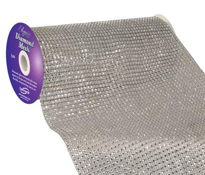 Eleganza Diamond Mesh 24.5cm x 4.5m Silver No.24 - Accessories
