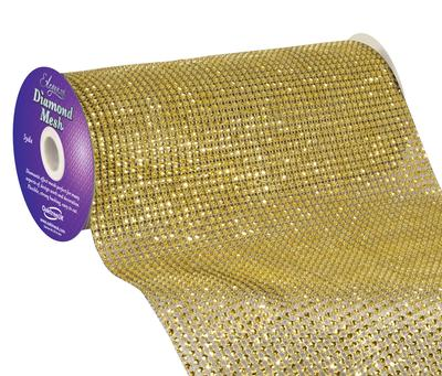 Eleganza Diamond Mesh 24.5cm x 4.5m Gold No.35 - Accessories
