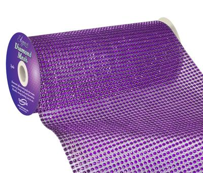 Eleganza Diamond Mesh 24.5cm x 4.5m Purple No.36 - Accessories