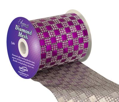 Eleganza Diamond Mesh 11cm x 4.5m Pattern No.350 Fuchsia No.28 - Accessories
