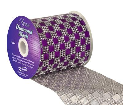 Eleganza Diamond Mesh 11cm x 4.5m Pattern No.350 Purple No.36 - Accessories