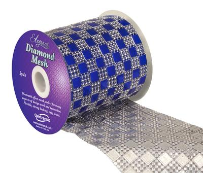 Eleganza Diamond Mesh 11cm x 4.5m Pattern No.350 Sapphire Blue No. 72 - Accessories