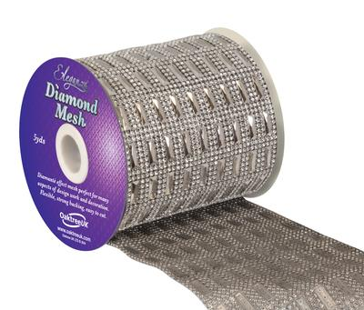 Eleganza Diamond Mesh 11cm x 4.5m Pattern No.352 Silver No.24 - Accessories