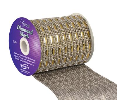 Eleganza Diamond Mesh 11cm x 4.5m Pattern No.352 Gold No.35 - Accessories