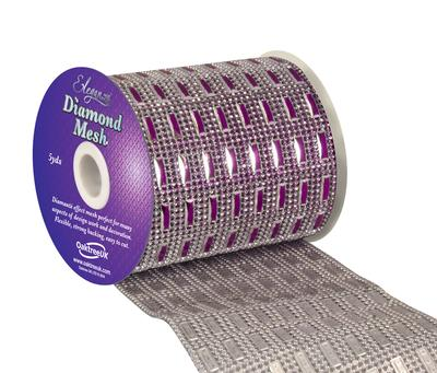 Eleganza Diamond Mesh 11cm x 4.5m Pattern No.352 fuchsia No.28 - Accessories