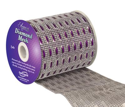 Eleganza Diamond Mesh 11cm x 4.5m Pattern No.352 Purple No.36 - Accessories