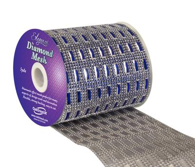 Eleganza Diamond Mesh 11cm x 4.5m Pattern No.352 Sapphire Blue No.72 - Accessories