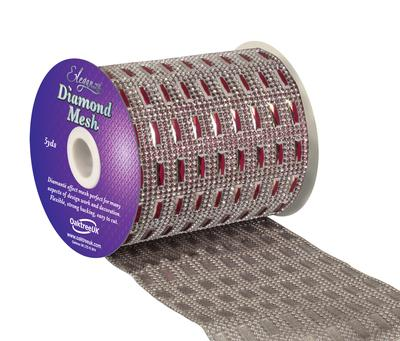 Eleganza Diamond Mesh 11cm x 4.5m Pattern No.352 Red No.16 - Accessories