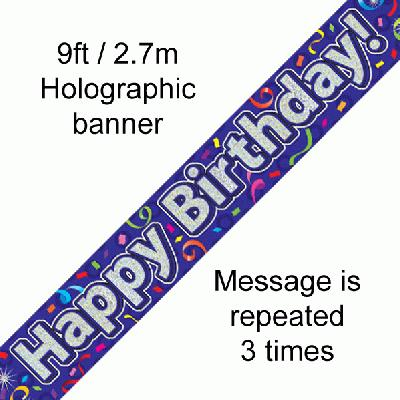 Happy Birthday Streamers - Banners & Bunting