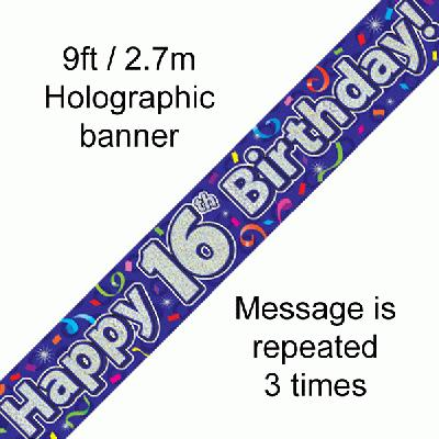 16th Birthday Streamers - Banners & Bunting