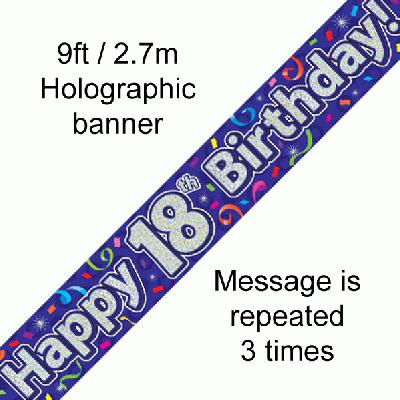 18th Birthday Streamers - Banners & Bunting