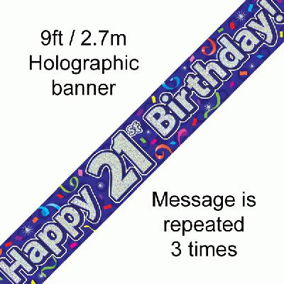 21st Birthday Streamers - Banners & Bunting