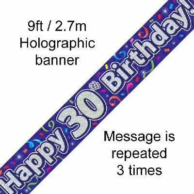 30th Birthday Streamers - Banners & Bunting